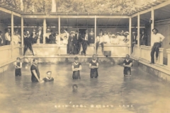 Bathers at the sulphur-fed pool, Mayhaw Lake, 1914.