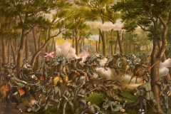 Battle of the Wilderness—Desperate fight on the Orange C.H. Plank Road, near Todd's Tavern, 6 May 1864, by Kurz & Allison.