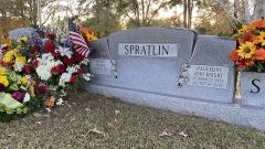 Milton and Jacqueline Spratlin headstone, Roselane Cemetery, Toc