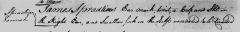 James Spratling's earmark, 1760.