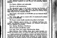 Chamber of Commerce advertisement for Athens, Georgia, 1926.