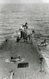 Bush being rescued by the submarine USS Finback, U.S. National Archives and Records Administration.