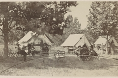 Lt. Gen. Ulysses S. Grant (third from left) and staff at City Point, Virginia, summer 1864.