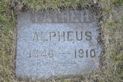 Alpheus Adams tablet, Hannah, North Dakota.