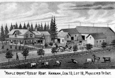 Maple Grove residence of Robert Hannah, Concession 10, Lot 18, M