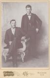Herman Adams and and Frank Hannah, from Hazel Porter's photo alb