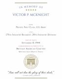 ABMC War Dead Certificate—Victor P. McKnight.