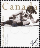 Canada Postage Stamp, Sporting Heroes series, Ethel Catherwood, High Jump, 1928 Summer Olympics.