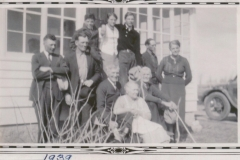 Porter-McKnight families at George and Ida Jane Porter's house