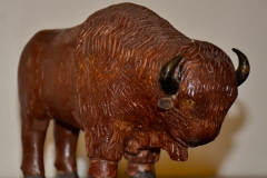 Bison Woodcarving by John Vatne.