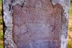 Rebecca Eames headstone, Mount Vernon Cemetery, Boxford, Essex County, Massachusetts.