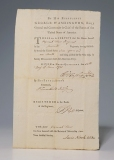 Honorable discharge of Jazaniah Howe signed by General George Wa