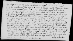 John Witherbee court testimony, 2 Oct 1666.
