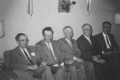 The Wetherbee Brothers—left to right: Donald, Lester, Stanley, Clarence, Max; bef. 1959.